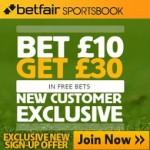 Betfair Bet £10 get a £30 Free Bet